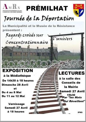 Affiche : exposition et lectures à Prémilhat